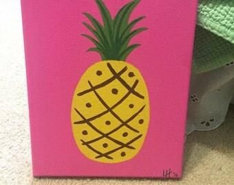 Pineapple | Decor | Summer | Fruit | Acrylic | Handmade | Pink