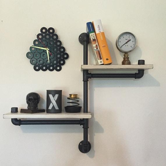 Mensola scaffale stile industriale vintage tubi idraulici for Tubi idraulici arredamento