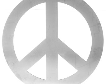 Peace Sign Metal Wall Decor