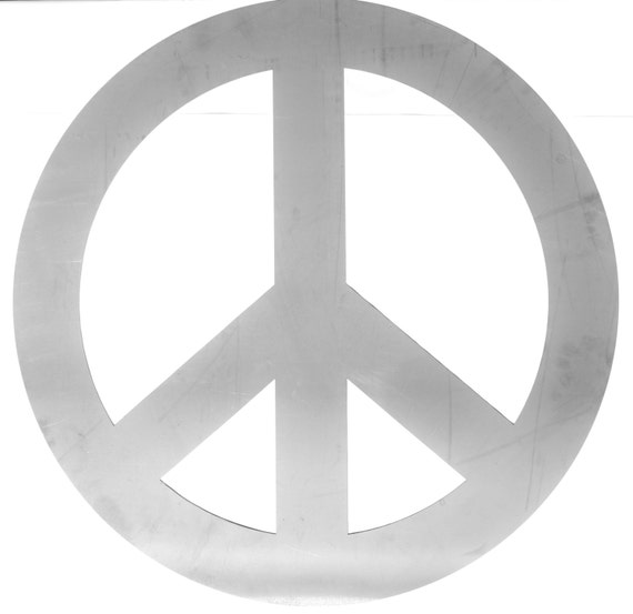 Peace Sign Wall Decor Metal : Peace sign metal wall decor