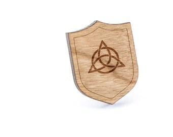 Celtic Knot Lapel Pin, Wooden Pin, Wooden Lapel, Gift For Him or Her, Wedding Gifts, Groomsman Gifts, and Personalized
