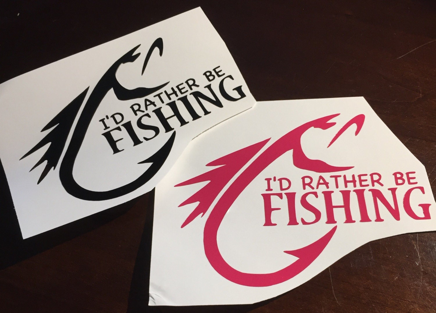 I 39 d rather be fishing decal for Rather be fishing