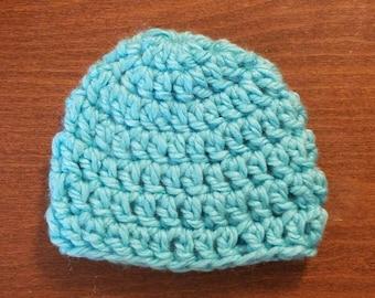 Newborn chunky crochet beanie