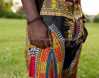 Dashiki Men's Fashion Shorts; African Clothing; Men's Dashiki; Dashiki; Men's Fashion