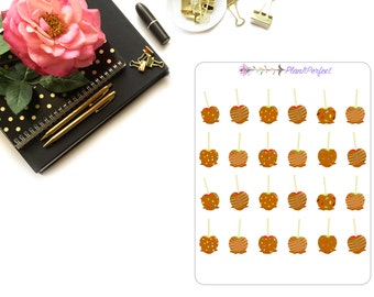 Carmel Apple Planner Stickers/Carmel Apple Stickers/Carmel Apple Stickers. Perfect for your planning and scrapbooking needs!