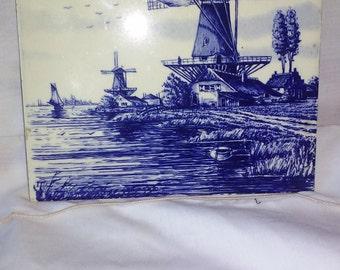 blue tile wind mill