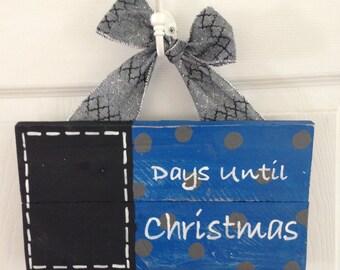 Days till christmas chalkboard