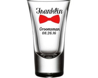 Set of (3) Vinyl Shot Glasses, Groomsman Gifts, Best Man Glasses, Personalized Shot Glasses, Shot Glass, Customized shot glass