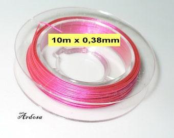 10 m wire 0, 38 mm pink (1038.0