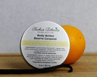 Natural Body Butter - Sweet Orange & Vanilla