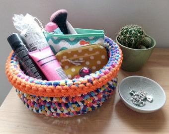 Crochet basket – Multi\Orange