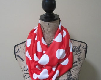 Red and White Polka Dot Scarf (Minnie Mouse)