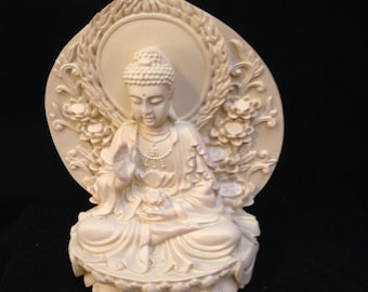 White Raisen Sitting Buddha