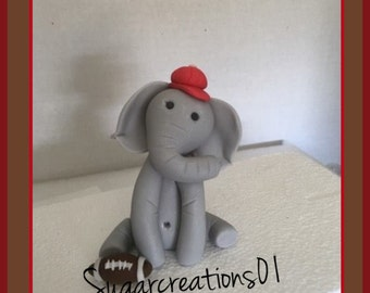 Edible Elephant with Football Cake Topper