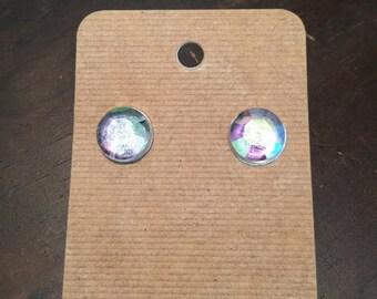 12mm Moonstone stud earrings