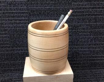 Solid Wood Pencil (knick knack) Holder