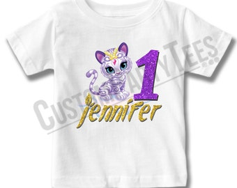 Customized Shimmer and Shine Birthday Shirt Add Name & AGE Gift Favors Personalized Nahal Shirt