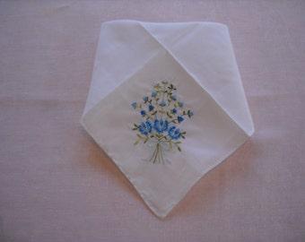 Vintage Handkerchief Wedding Hanky Something Old Something Blue NOS