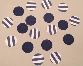 200 Navy and White Confetti Navy White Shower Confetti Baby Confetti Wedding Confetti Birthday Confetti Nautical Confetti