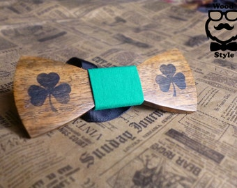 wooden bow tie, wood bow tie, Men's wooden accessories, Ireland bow tie, handmade,wood style,Tie Accessories, st patrick's day