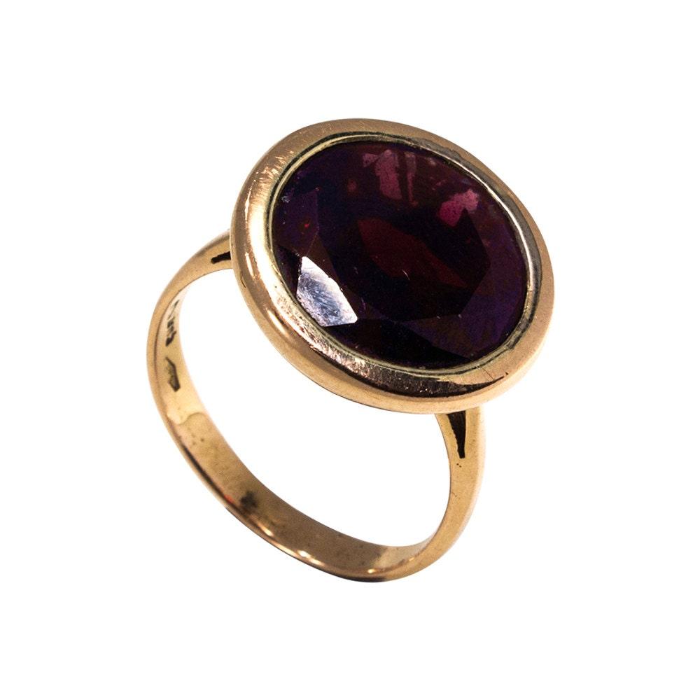 january birthstone garnet ring solid gold garnet ring 14k. Black Bedroom Furniture Sets. Home Design Ideas