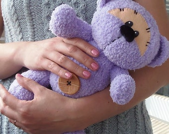 Hand Knitted Bear (28 cm), Teddy Bear, Soft Toy, Baby Gift, Child Gift