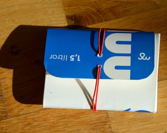 Wallet made from a milk carton - Blue - Icelandic milk - Recycling - Upcycling - Handmade in Iceland