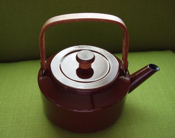 Vintage Revere Ware Copper Teapot With Wood Handle And Knob