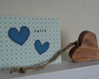 heart hello greeting card