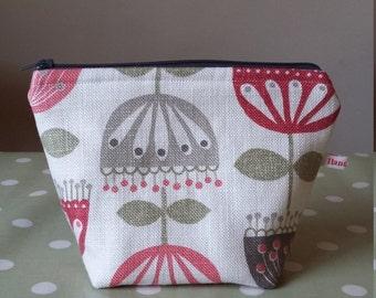 flower zip pouch bag