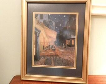 Framed Van Gogh Cafe Terrace Print
