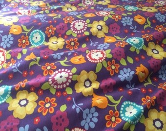 Cotton lycra Gorgeous childrens flower print eco-freindly by the yard