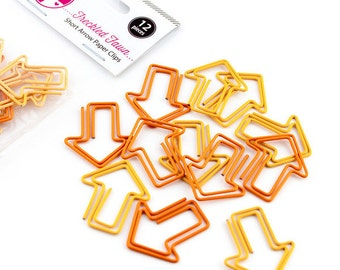 Orange and Yellow Arrow Paper Clips