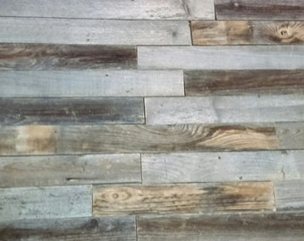 Reclaimed rustic fence boards/accent wall