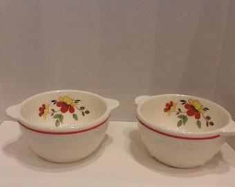 "Vintage pair of ""Bake Oven"" custard cups"
