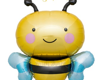 "Bumble Bee Balloon, What Will It Bee?, Baby Shower Balloon, Birthday Balloon, 36"" Bee Balloon"