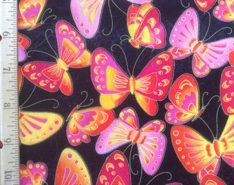 Robert Kaufman Fabrics    Over the Rainbow Butterflies    #D5813