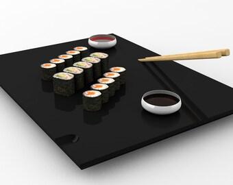 Sushi tray.