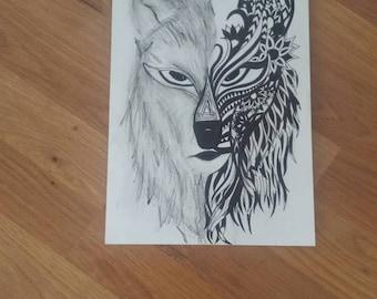 SplitFace Wolf