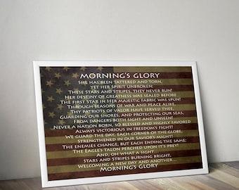 American Flag Patriotic Wall Decor, Patriotic Poem, Patriotic Wall Art Decor, American Flag Decor, Patriotic Americana Decor, July 4th Print