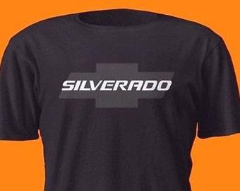 Chevrolet Silverado Silver On Black Shirt Chevy Truck