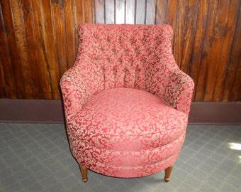Vintage Hollywood Regency Swivel Ocassional Chair