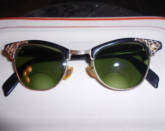 Vintage CatEye Glasses 22k Gold Filled Frames