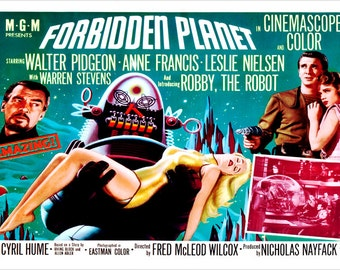 Forbidden Planet Movie Poster 2436 Leslie Neilsen Anne Francis Campy HOT