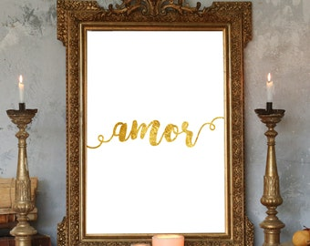 Amor,Spanish Love,Amor printable,Amor poster,Amor quote,Love Home decor,Nursery Quote,Love Wall Art,Love quote