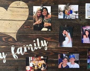 Family pallet sign, Family frame, Family collage, Rustic family sign, family collage sign, Pallet family sign, love my family sign, Family