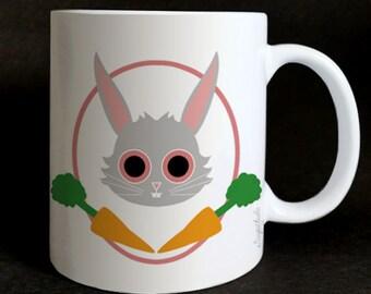 """Mug """"Les grozeuil"""" Célestin the bunny."""