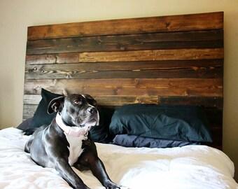 Reclaimed wood headboard, pallet headboard, wood headboard, rustic headboard, headboard, reclaimed headboard,
