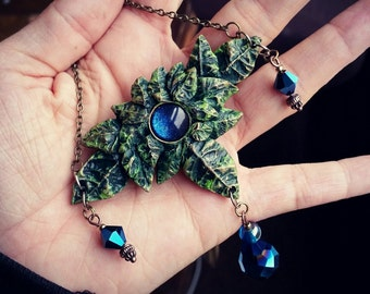 Crystal Forest Necklace Sapphire Blue