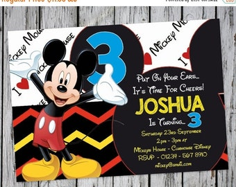 PERSONALIZED Mickey Mouse Invitation, Mickey Birthday, Mickey Mouse Birthday Printable Invitation, Disney Invitation